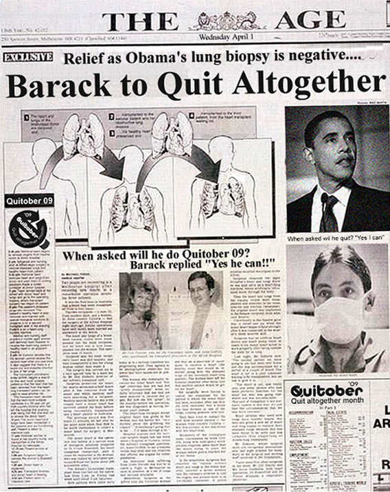 Barack to Quit Altogether